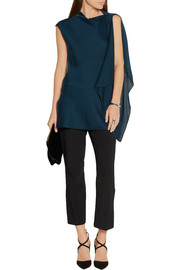 By Malene Birger Annica asymmetric stretch-silk top