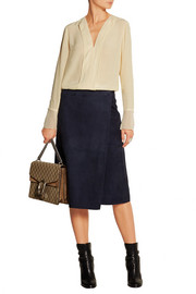 By Malene Birger Alsa chiffon-trimmed crepe blouse