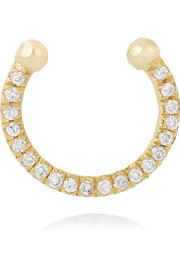Thread 18-karat gold diamond nose ring