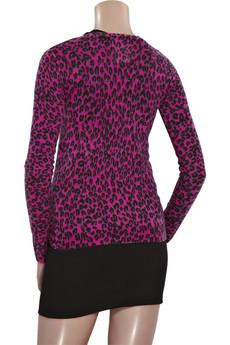 CrumpetLeopard-print cashmere cardigan