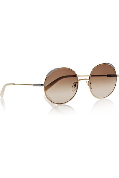 Chloe 79s Gold Frame Sunglasses : Chloe Round-frame gold-tone sunglasses NET-A-PORTER.COM