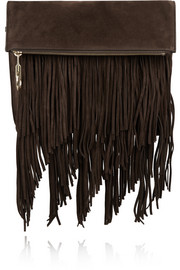 Andrew fringed suede clutch