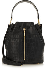 Cynnie croc-effect leather bucket bag