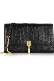 Cynnie croc-effect leather shoulder bag
