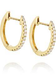 Huggy 18-karat gold diamond earrings