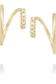 Maria Black Fine Jewelry Lila Twirl 18-karat gold diamond earrings