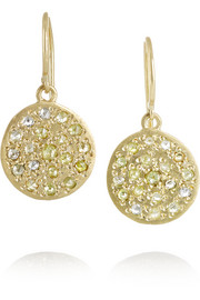 Mini Mars 18-karat gold diamond earrings