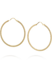 Mirador 18-karat gold hoop earrings