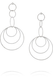 Gitane 18-karat white gold earrings