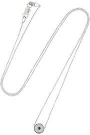 Ileana Makri Leda 18-karat white gold, diamond and sapphire necklace