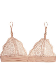 Stella McCartney Meg Alluring stretch-lace and Swiss-dot jersey soft-cup bra