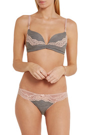 Stella McCartney Elena Reading jersey and stretch-lace contour bra