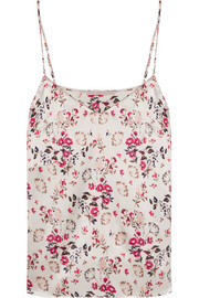 Ellie Leaping printed stretch-silk satin camisole