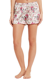Stella McCartney Ellie Leaping printed stretch-silk satin pajama shorts