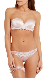 Stella McCartney Kate Kissing lace-trimmed stretch-silk and point d'esprit thong