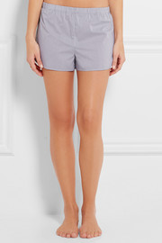 Stella McCartney Marie Skipping striped poplin pajama shorts