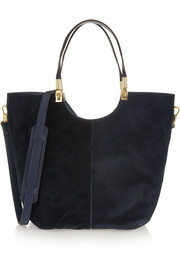 Cynnie calf hair and leather tote