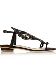 Seraphina embellished leather sandals