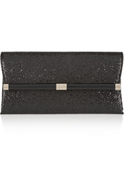 440 Envelope glittered leather clutch