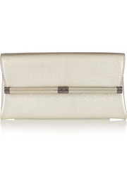 440 Envelope metallic textured-leather clutch