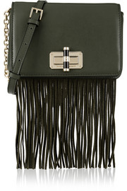 440 Gallery Bellini fringed leather and suede shoulder bag