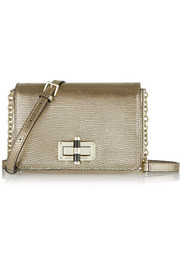 440 Gallery Bellini metallic lizard-effect leather shoulder bag