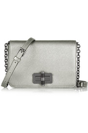 440 Gallery Bellini metallic textured-leather shoulder bag