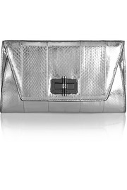 440 Gallery Uptown metallic elaphe clutch
