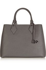 Voyage large textured-leather tote