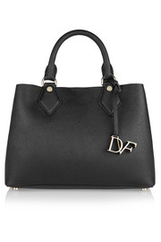 Voyage textured-leather tote