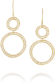 Glamazon Stardust 18-karat gold diamond earrings