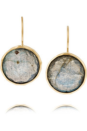 Lollipop 18-karat gold, topaz and labradorite earrings
