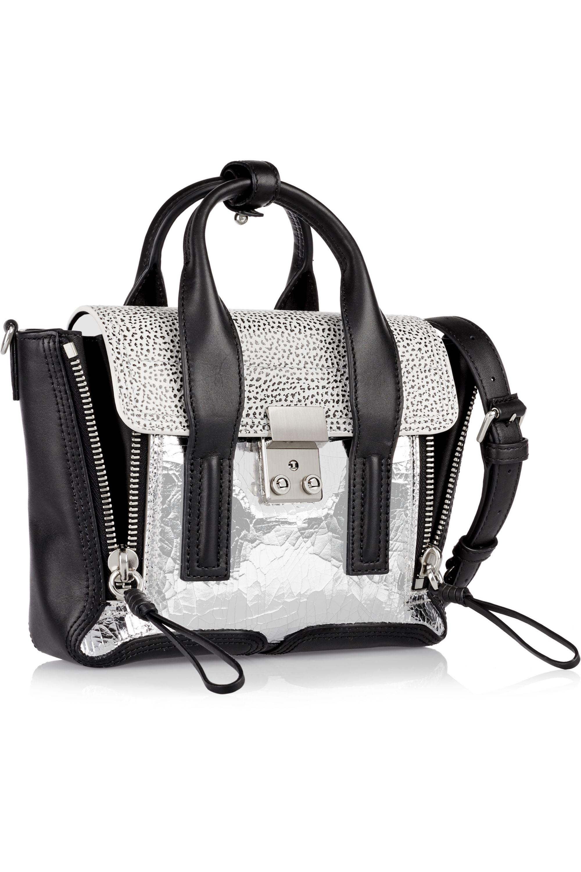 3.1 Phillip Lim The Pashli mini textured-leather trapeze bag