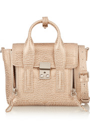 3.1 Phillip Lim The Pashli mini textured-leather trapeze bag