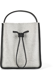 Soleil small textured-leather bucket bag