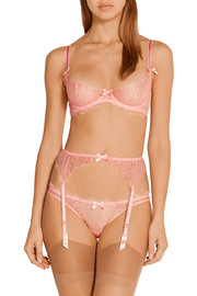 Grace stretch-tulle and lace underwired bra