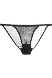 Layla lace, tulle and mesh briefs