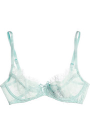 Idalia lace and tulle underwired bra