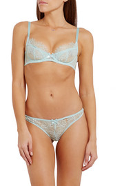 Idalia lace and tulle thong