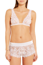 La Perla Merveille Chantilly lace and satin briefs
