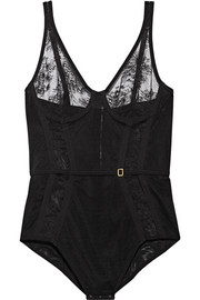La Perla Eva Leavers lace and stretch-tulle bodysuit