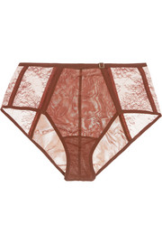 La Perla Eva stretch-tulle and Leavers lace briefs