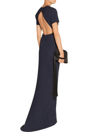 Leona open-back stretch-ponte gown