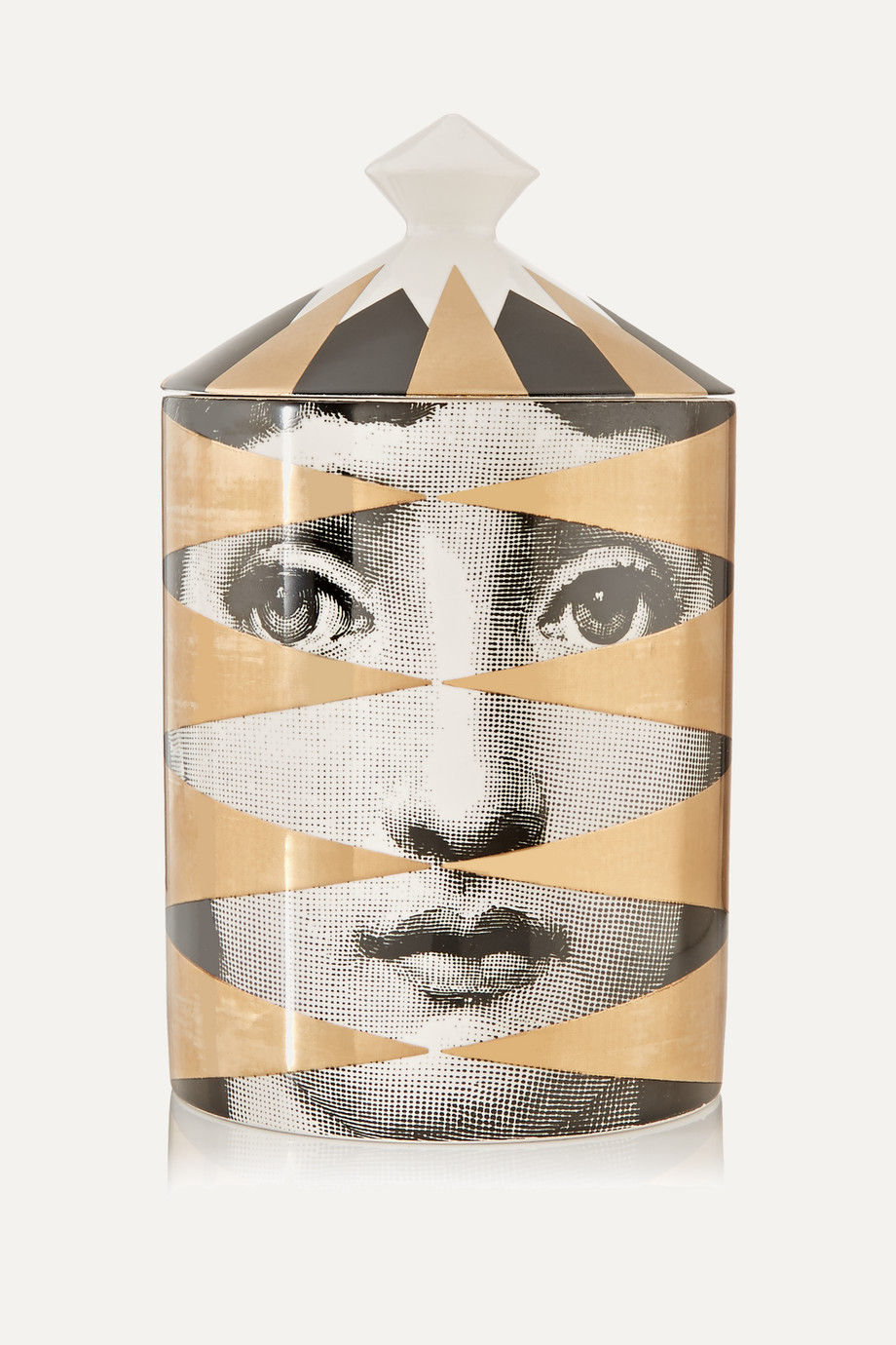 Fornasetti Losanghe Thyme, Lavender and Cedarwood Scented Candle, 300g