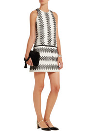Giambattista Valli Cotton-blend jacquard mini dress
