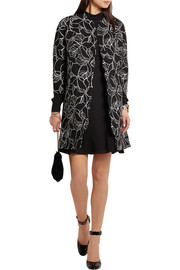 Giambattista Valli Scalloped printed crepe coat