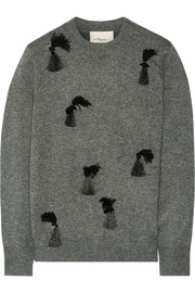 3.1 Phillip Lim Embellished wool, yak and cashmere-blend sweater