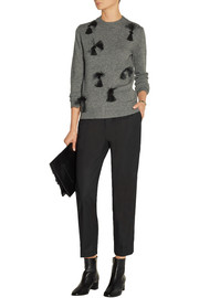 Embellished wool, yak and cashmere-blend sweater