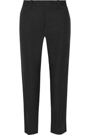 Stretch cotton-blend tapered pants