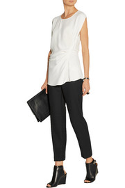 Ruched crepe top
